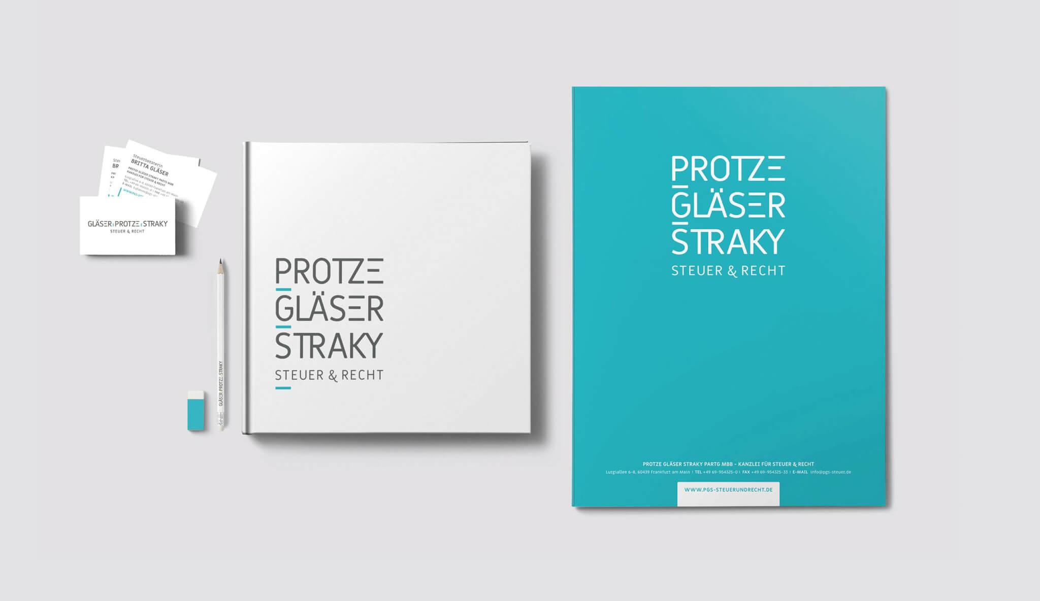 Corporate-Design und Geschaeftsausstattung-Frankfurt der Steuerkanzlei Protze Glaeser Straky