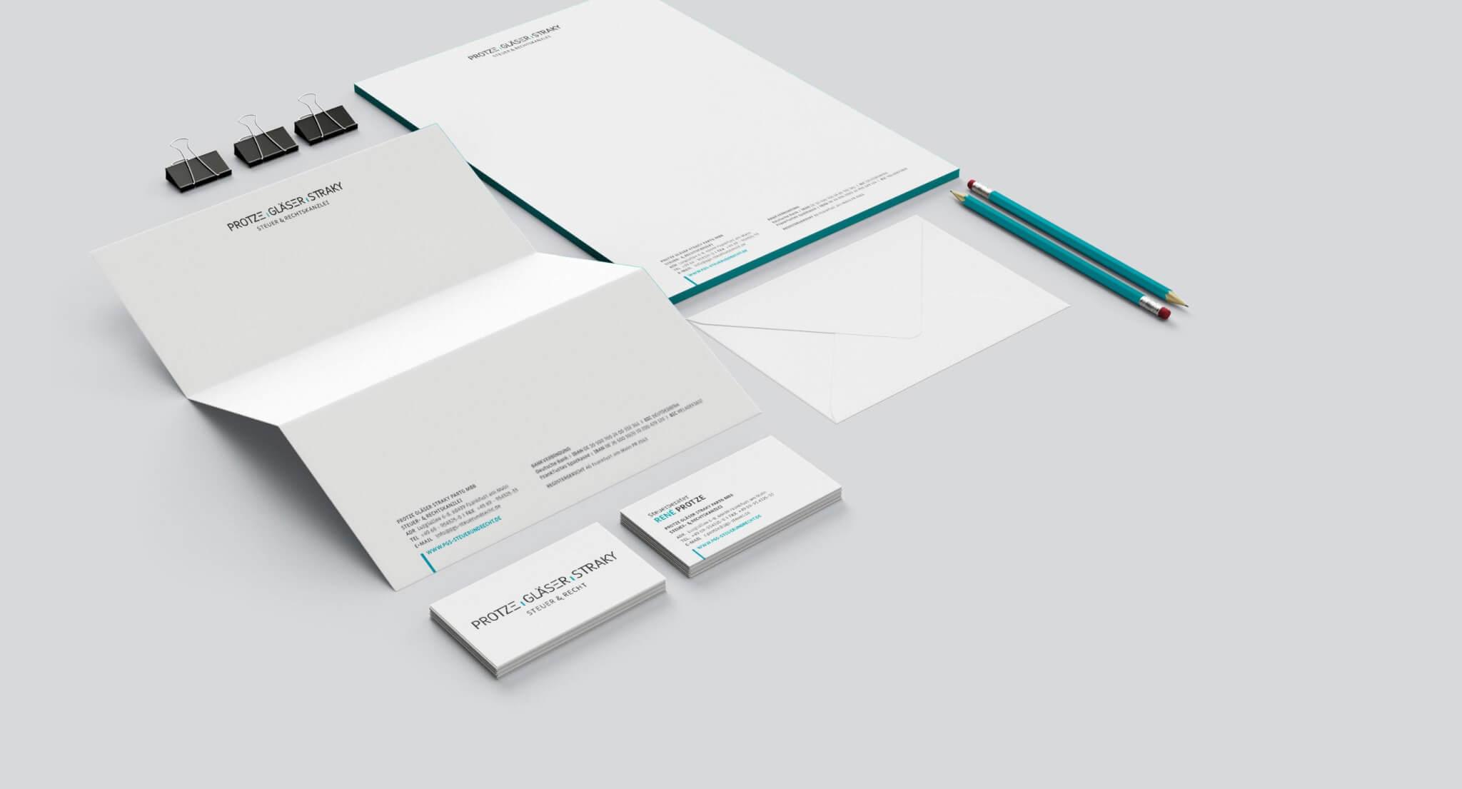 Corporate-Design und Geschäftsausstattung einer Steuerkanzlei aus Frankfurt