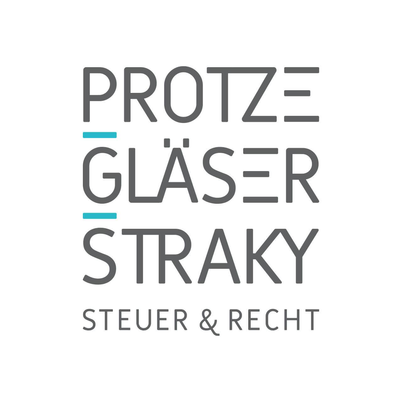 Corporate-Design Logo-Design der Steuerkanzlei PROTZE GLÄSER STRAKY aus Frankfurt am Main