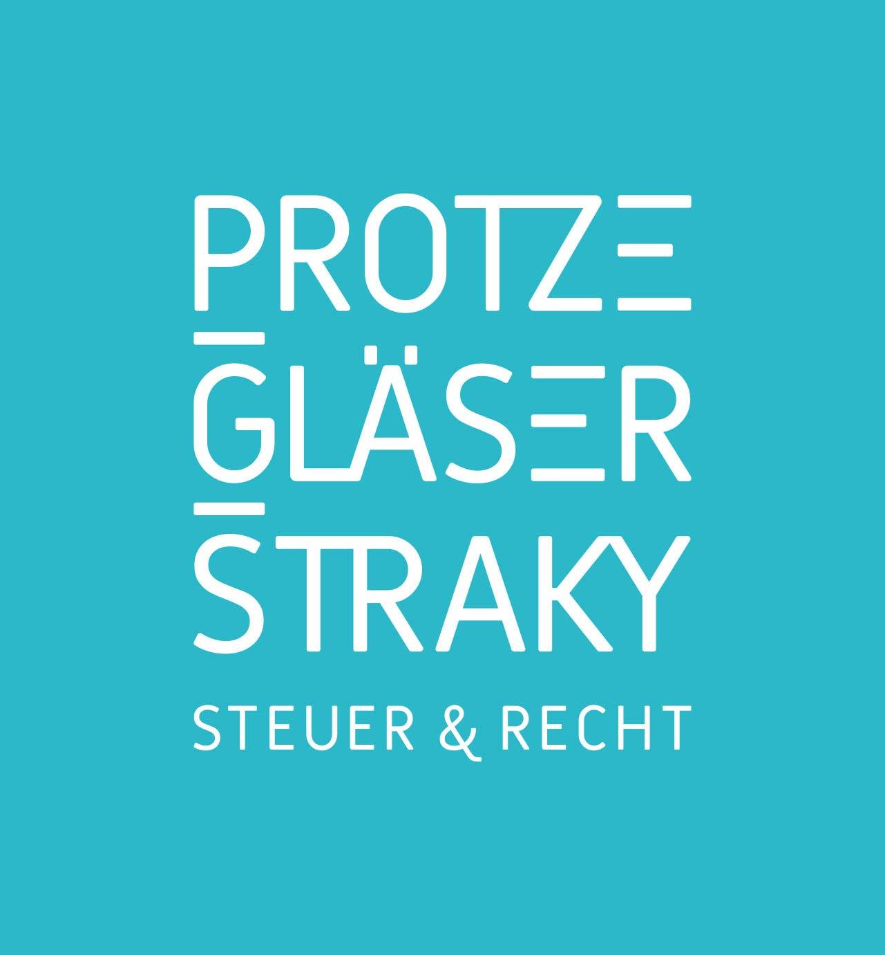 Logo-Design der Steuerkanzlei PROTZE GLAESER STRAKY aus Frankfurt in Blau
