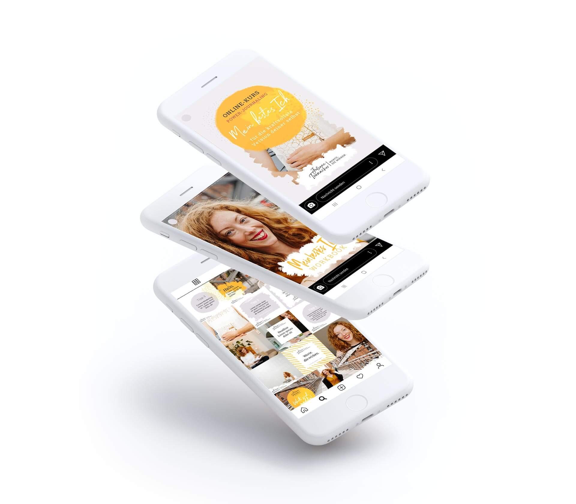 Ein iPhone mit dem neuen Instagram Feed Design für Juliane Tranacher